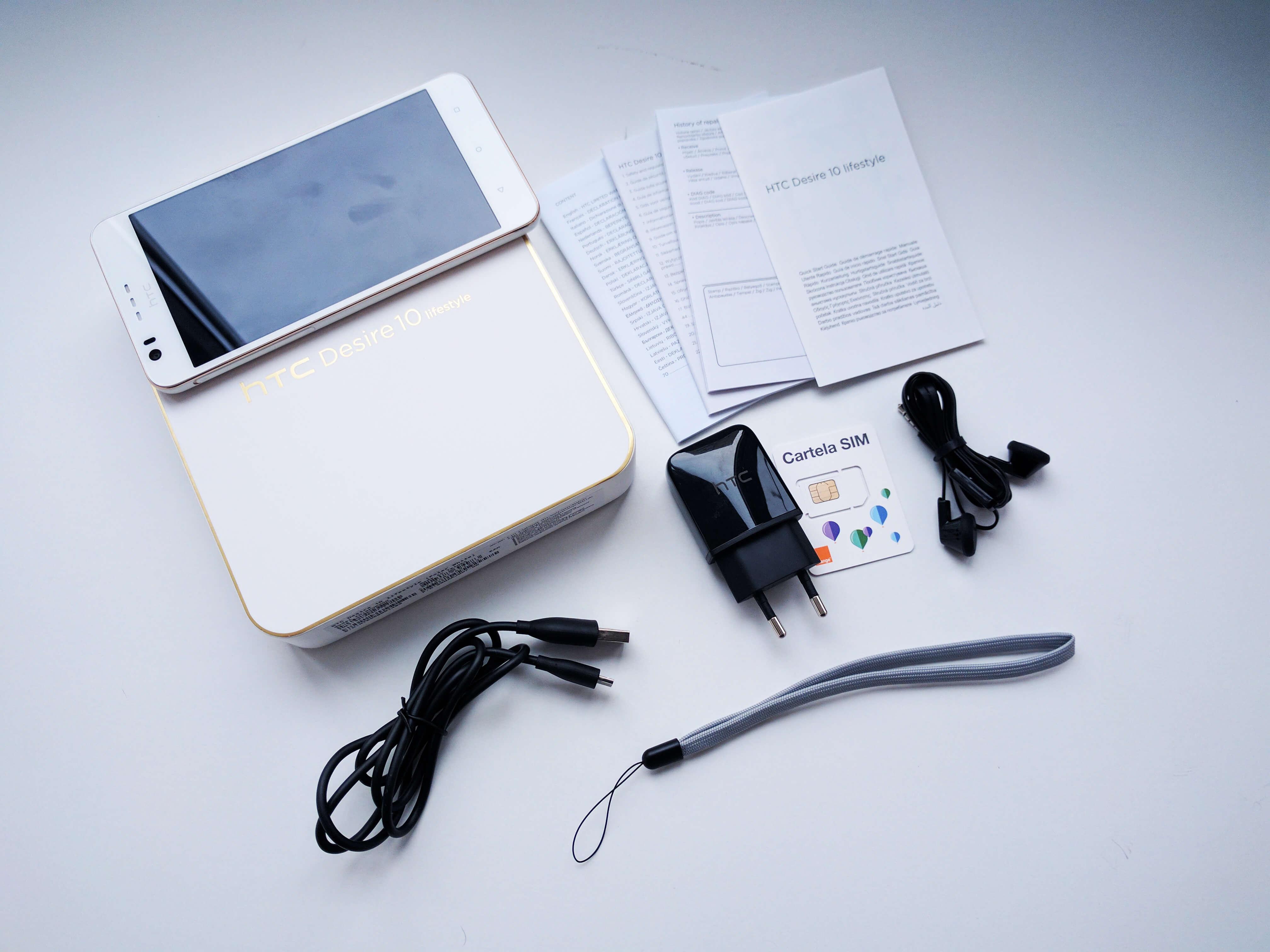 HTC 10 Lifestyle Ambalaj si accesorii