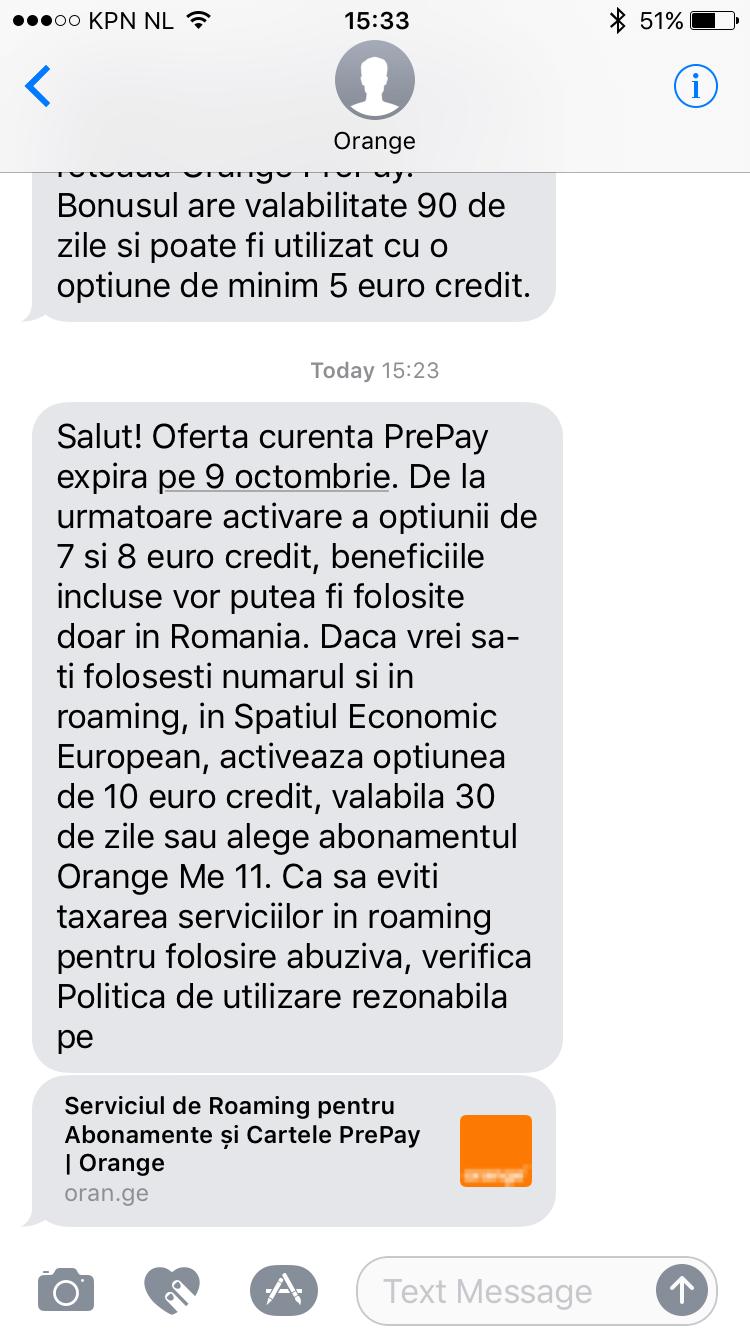 Orange - Beneficii SEE 10 euro