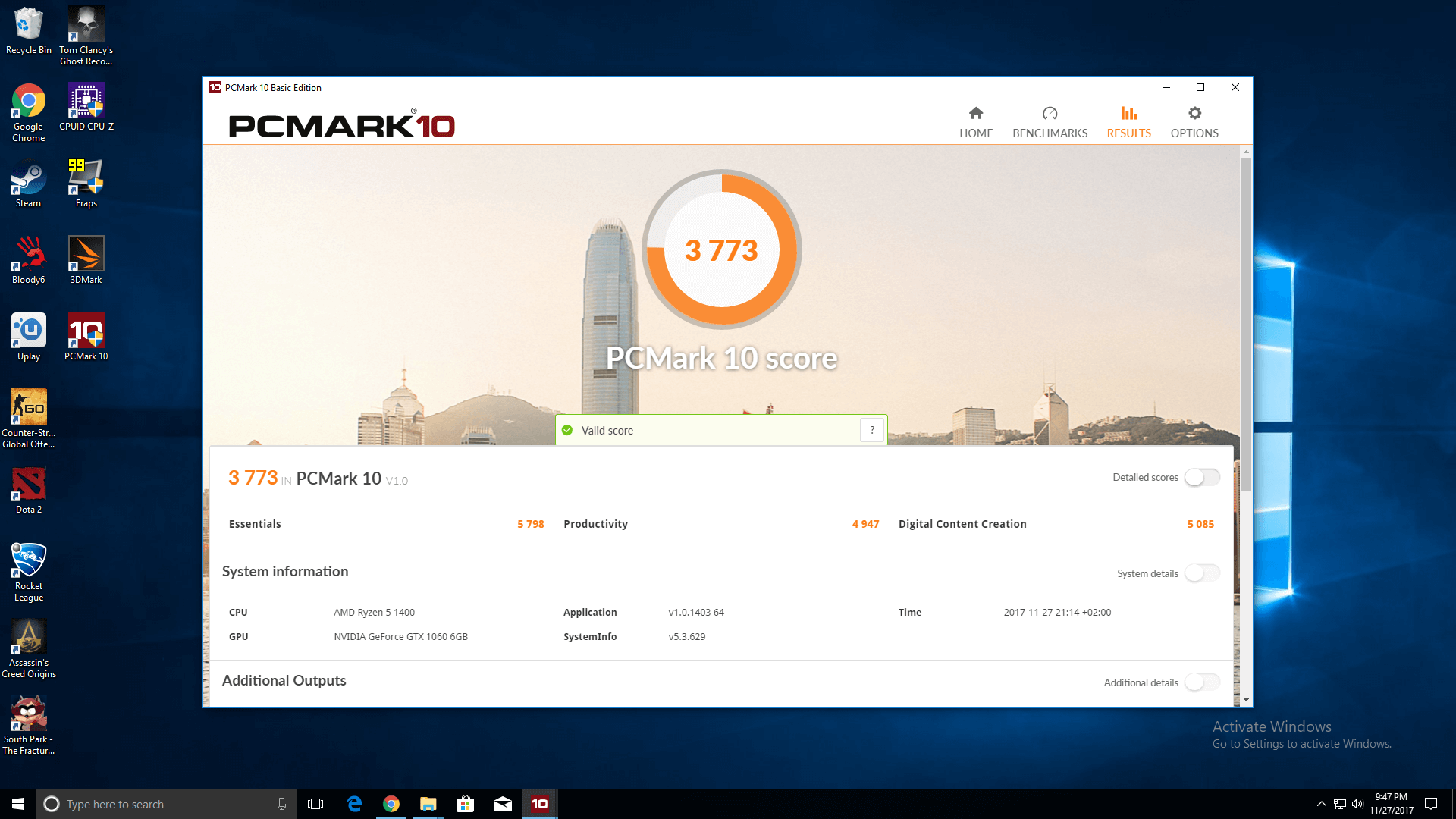 Sistem Gaming Red Shocktrooper by PC Garage - benchmark 3