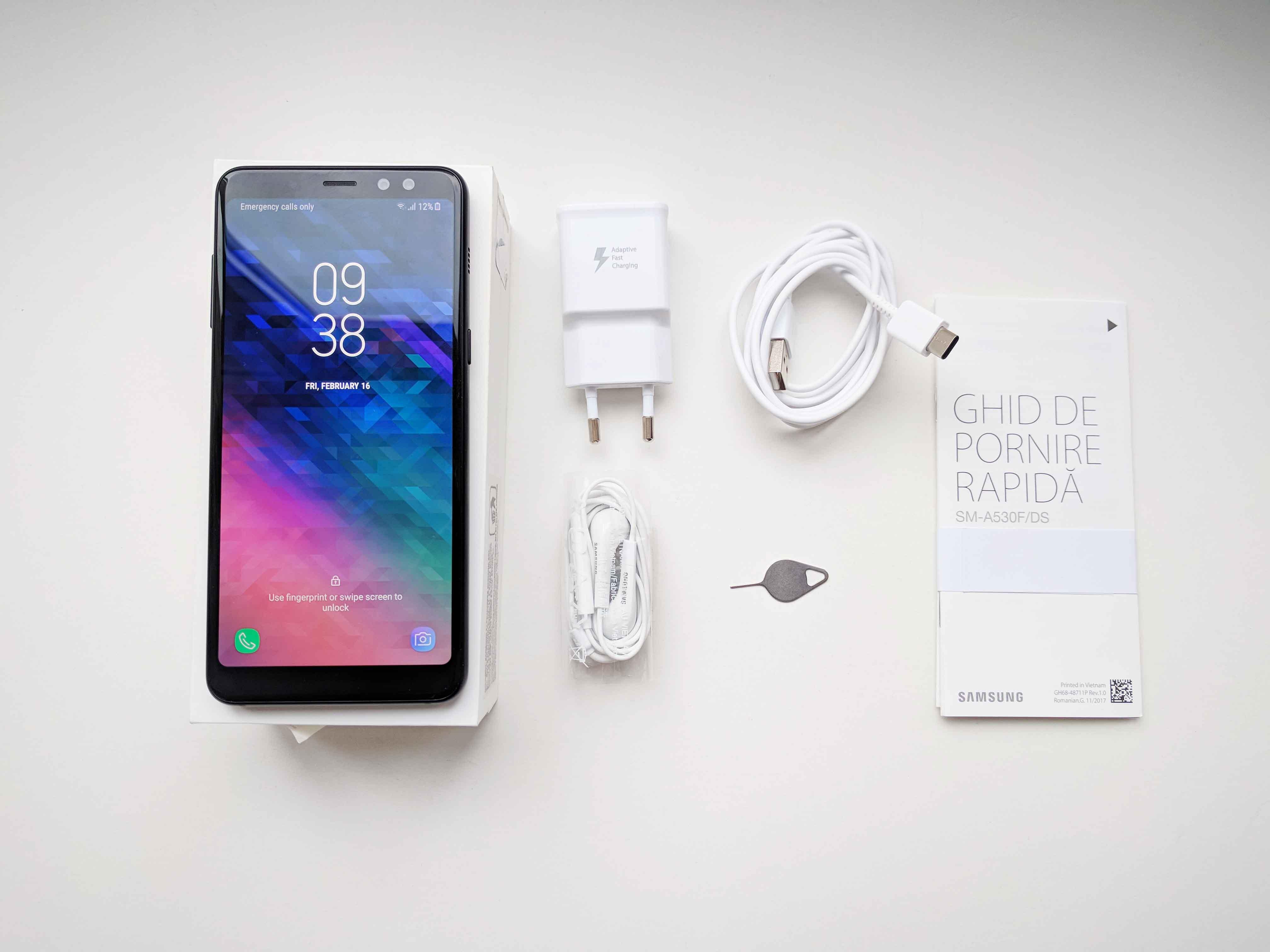 Samsung Galaxy A8 (2018) Ambalaj si Accesorii
