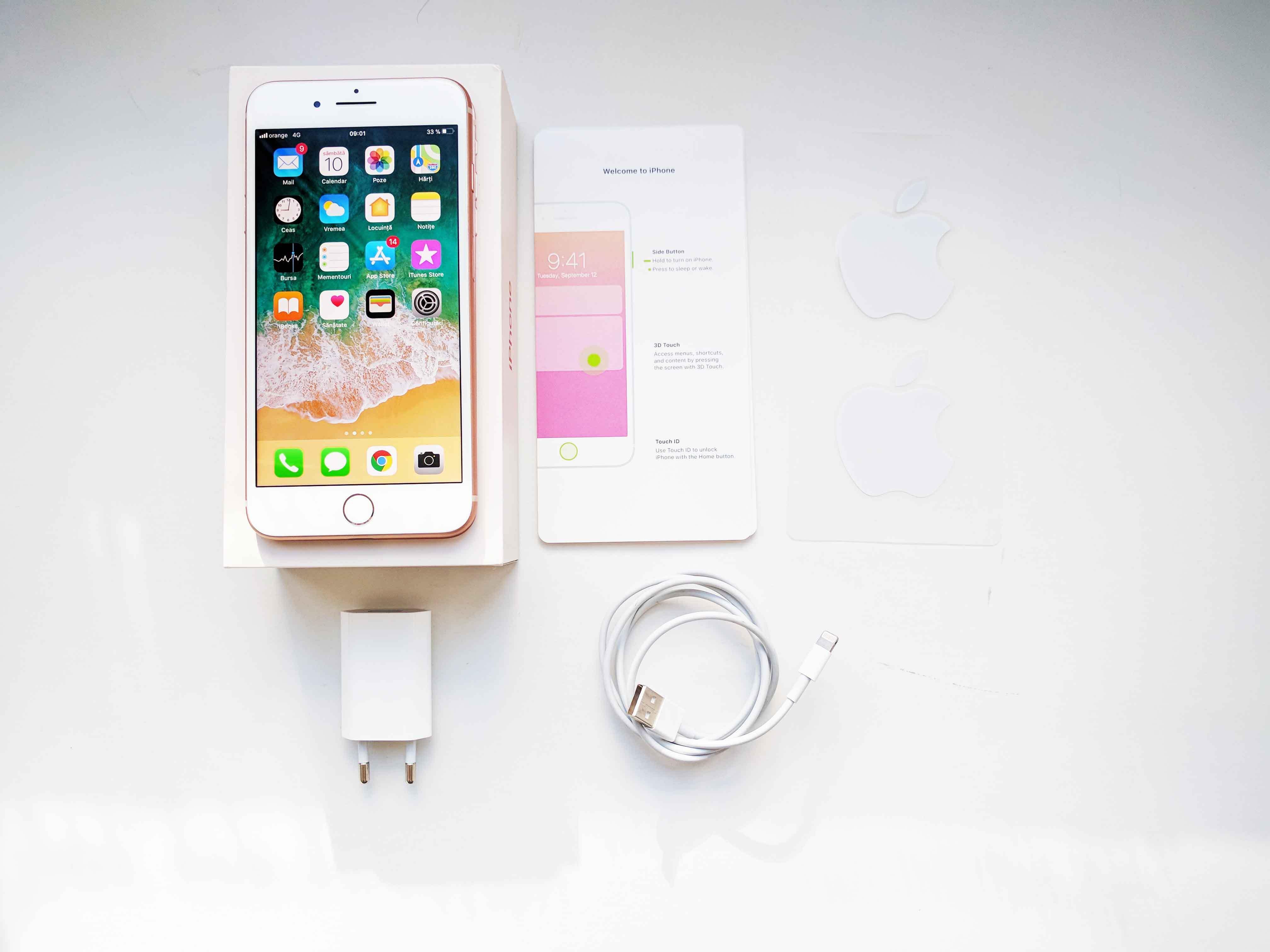 iPhone 8 Plus Review Romana si Pareri - Ambalaj si Accesorii