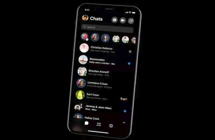 Facebook Messenger Dark Mode(tema intunecata)