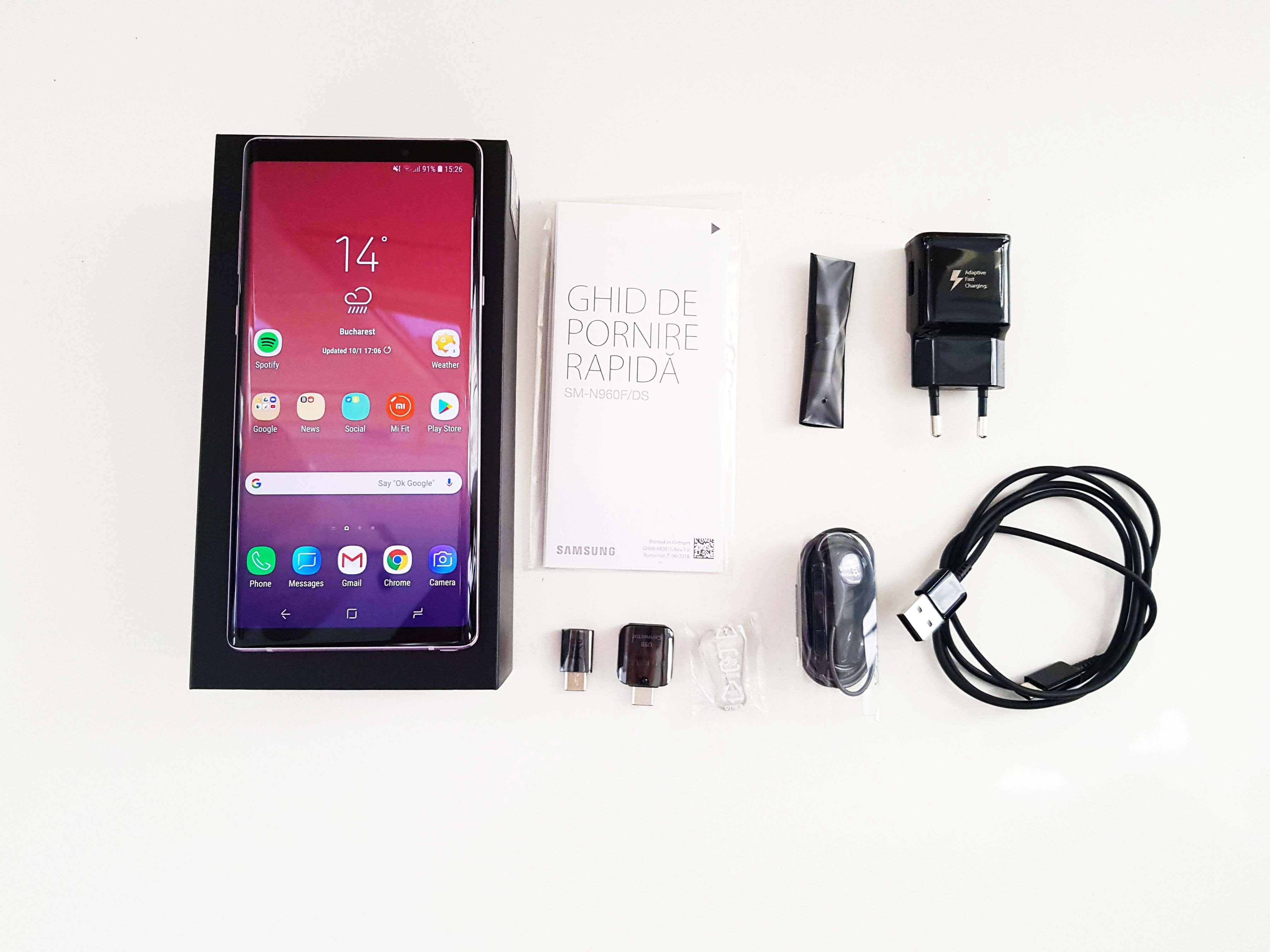 Samsung Galaxy Note9 Review Romana si Pareri - Ambalaj si Accesorii