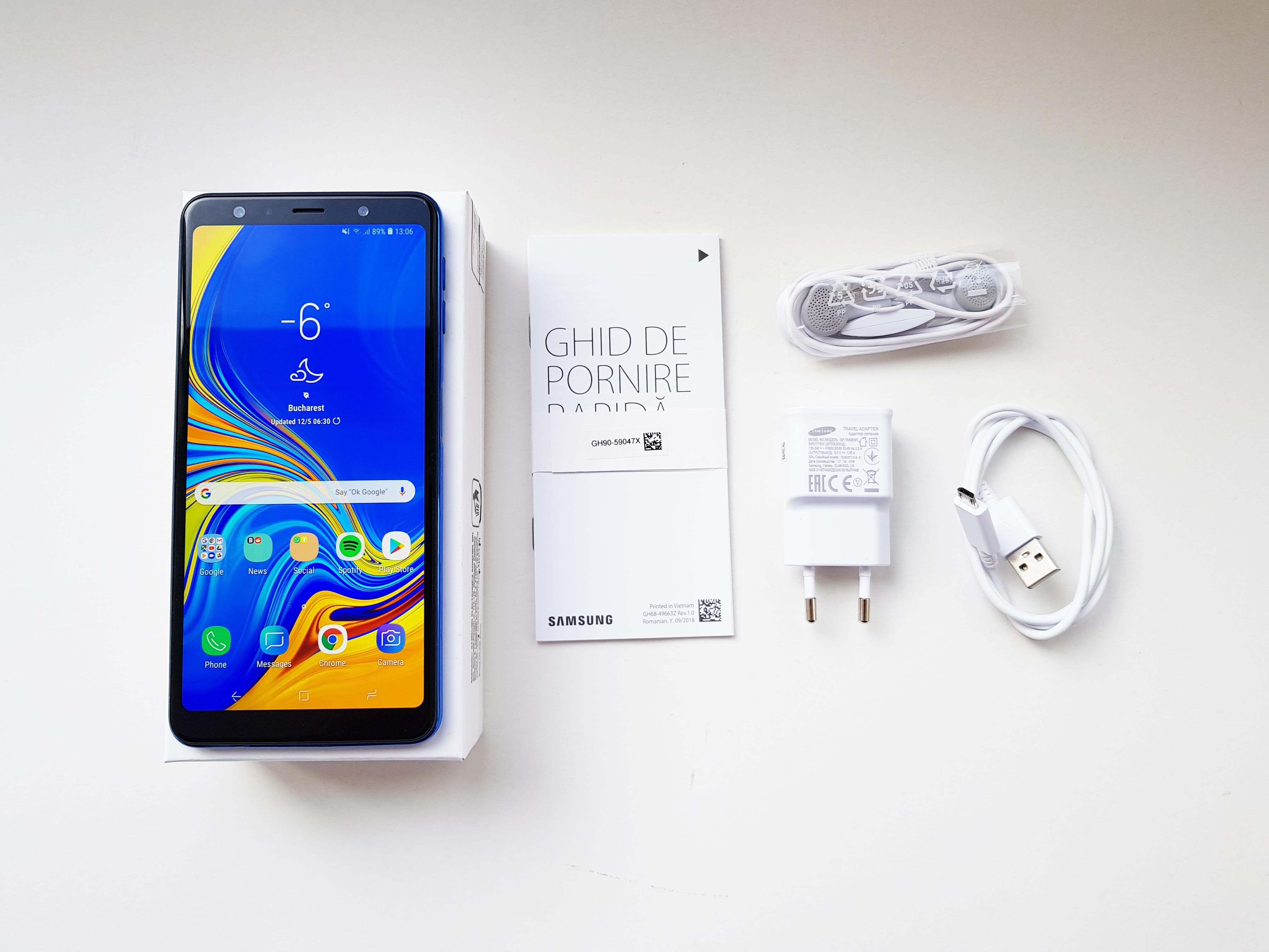 Samsung Galaxy A7 Review Romana si Pareri - Ambalaj si accesorii
