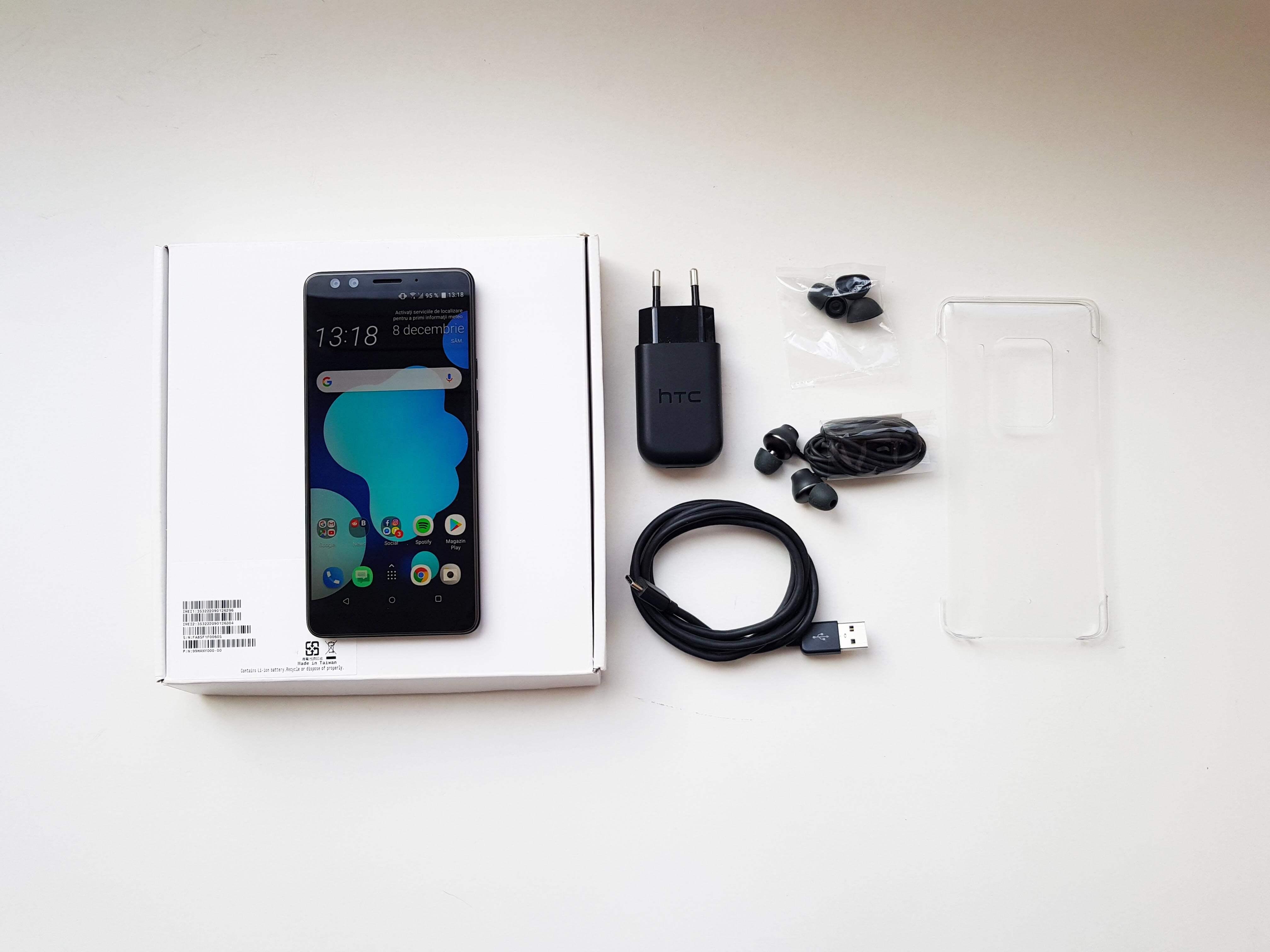 HTC U12 Plus Review Romana si Pareri - Ambalaj si accesorii