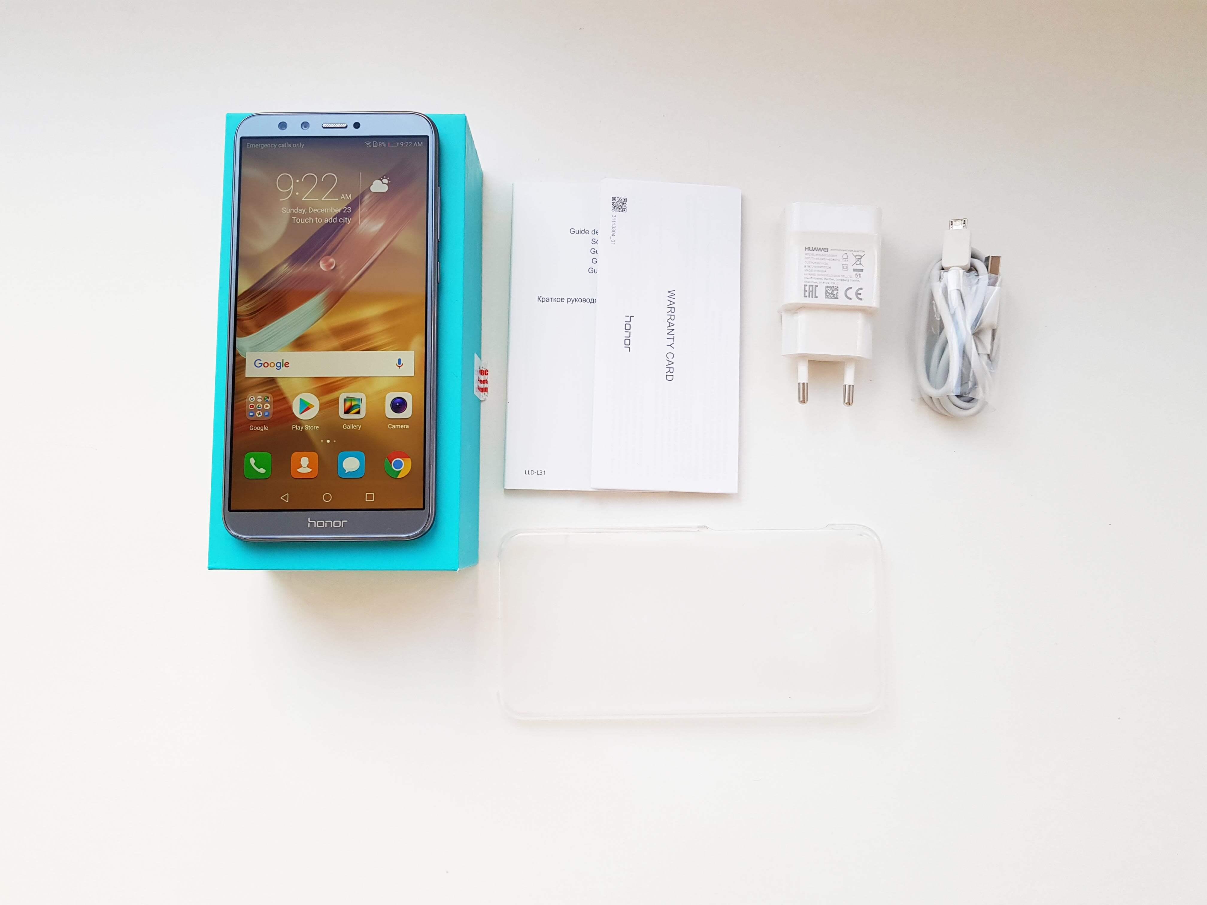 Huawei Honor 9 Lite Review Romana si Pareri - Ambalaj si Accesorii