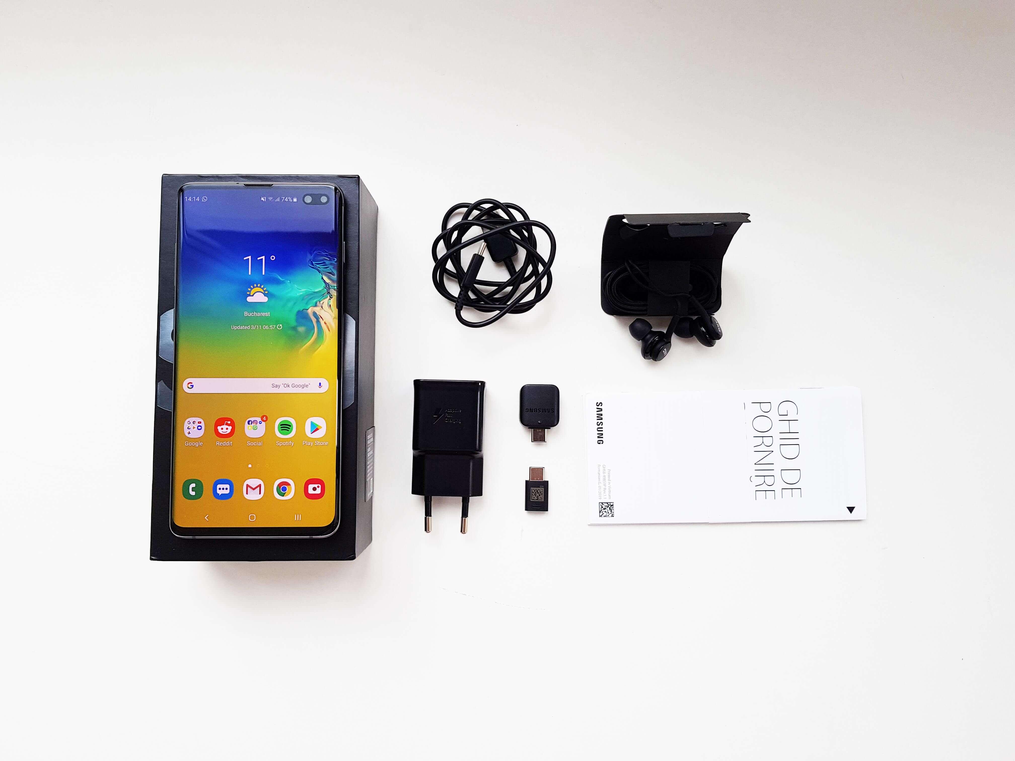 Samsung Galaxy S10 Plus Review Romana si Pareri - Ambalaj si accesorii 1