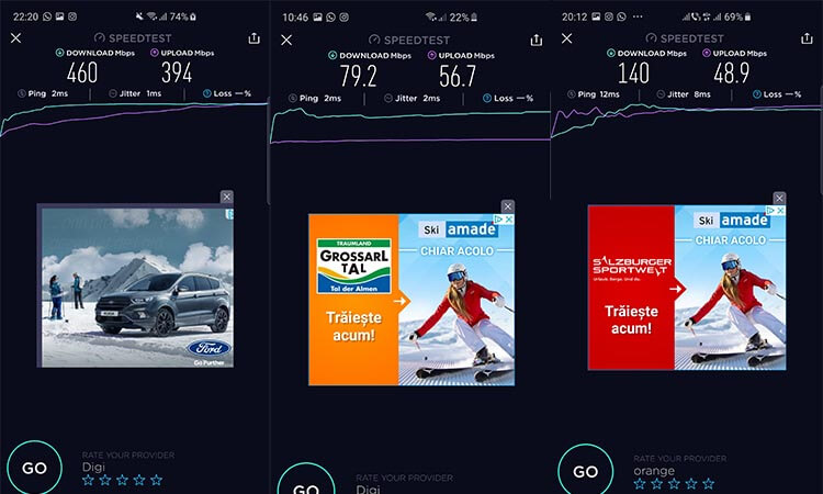Samsung Galaxy S10 Plus review romana si parereri - speedtest