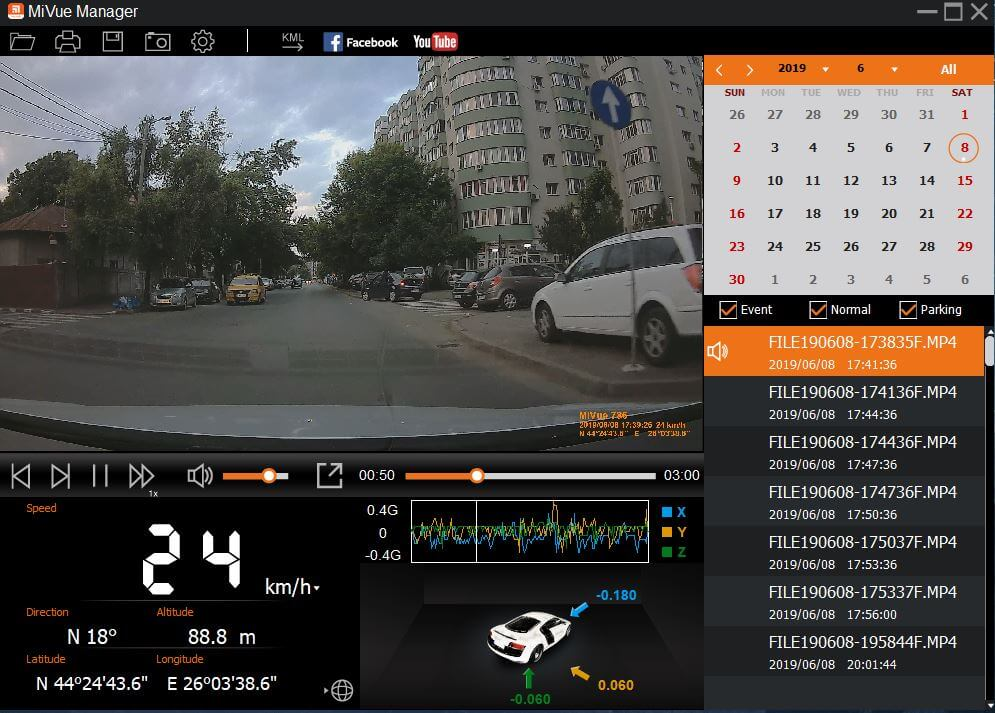Camera Auto DVR Mio MiVue 786 Review Romana si Pareri - Aplicatie 1
