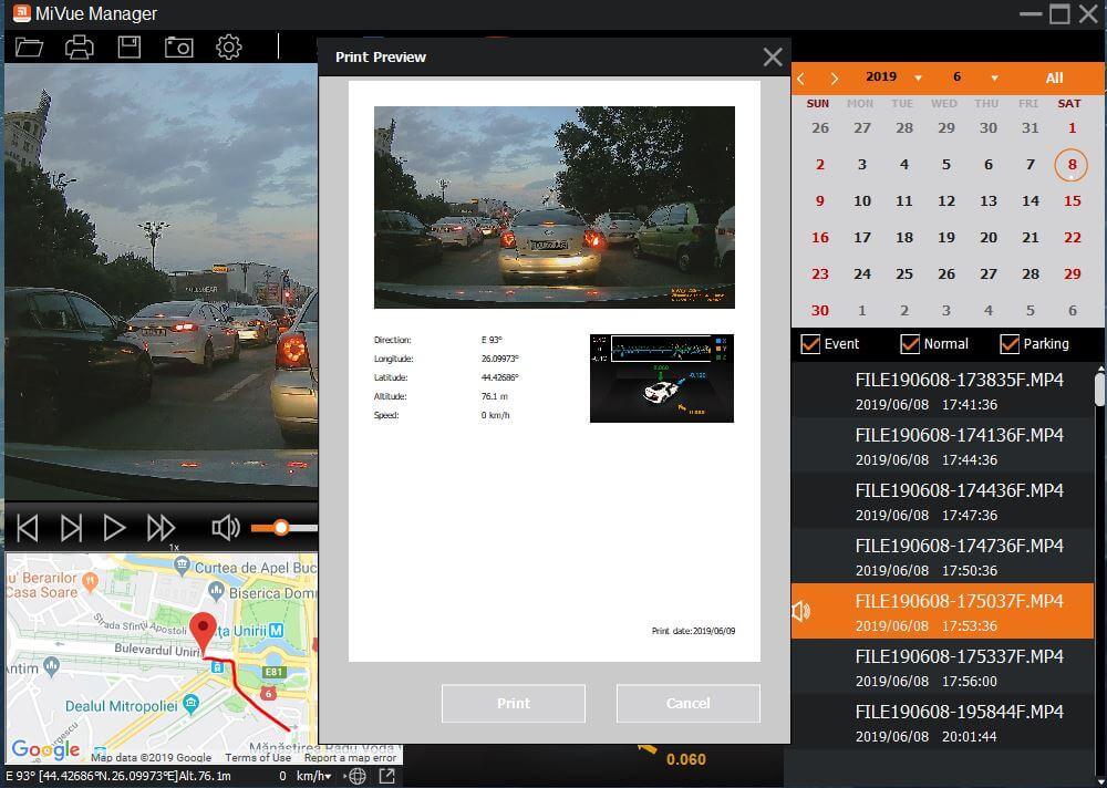 Camera Auto DVR Mio MiVue 786 Review Romana si Pareri - Aplicatie 3