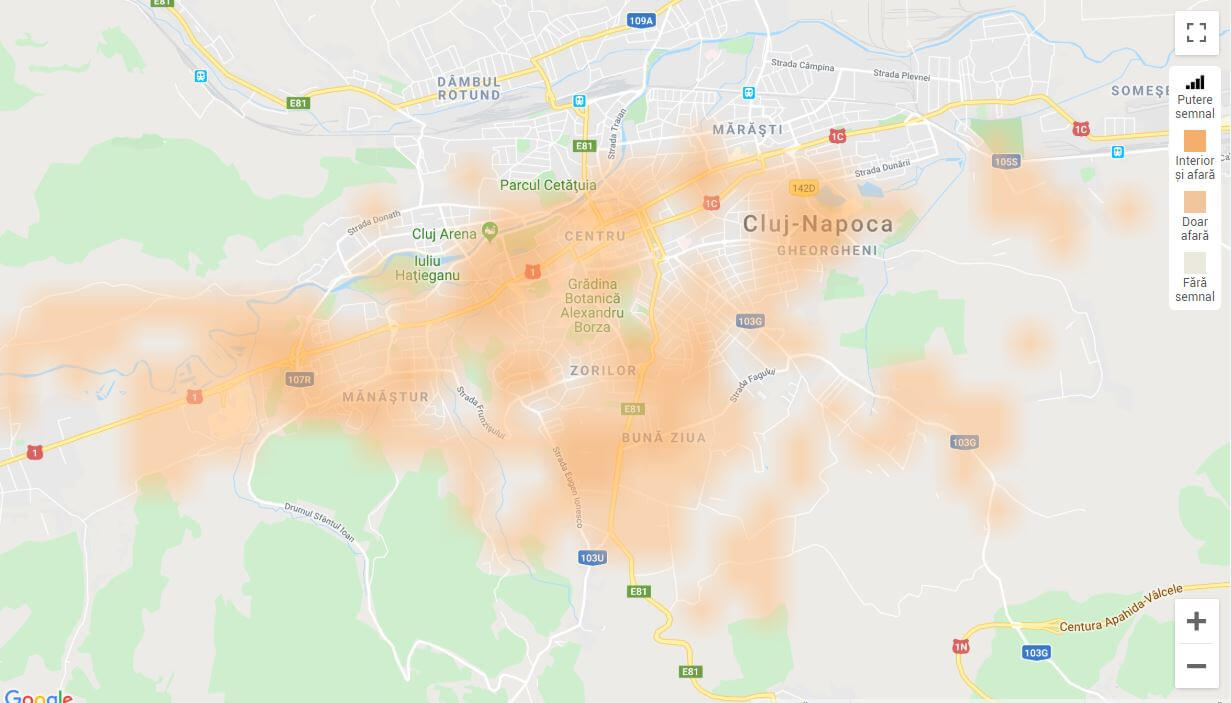 Acoperire Orange 5G in Romania - 1