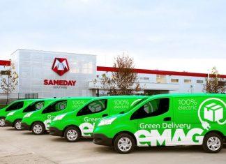 eMAG Green Delivery - Livrare cu masini electrice in Bucuresti Ilfov