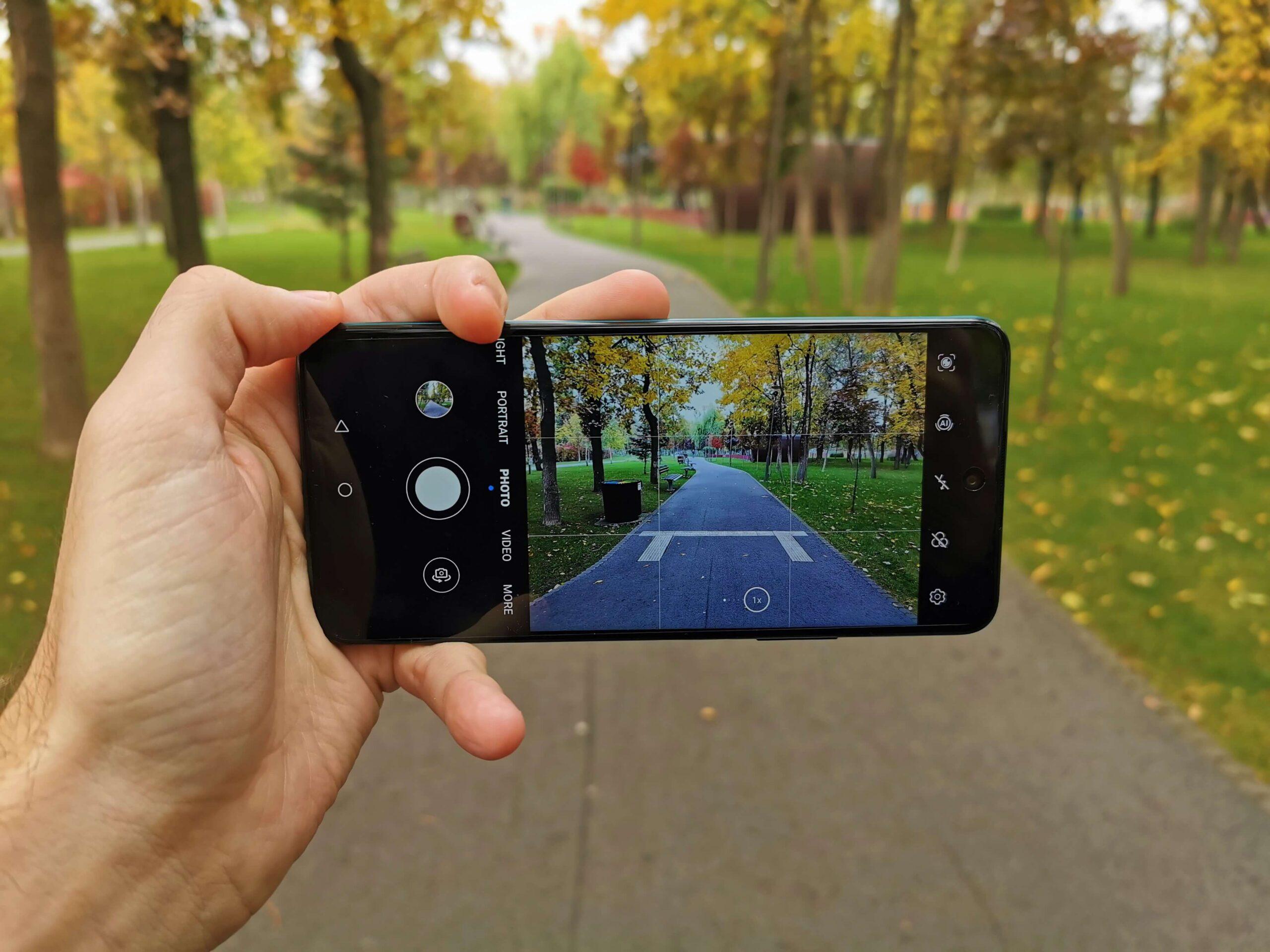 Cum sa faci poze smart cu Huawei P Smart 2021 - Grila de asistenta